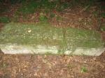 Оставшиеся надгоробные камни на кладбище при церкви