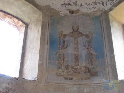 Настенный рисунок в алтаре Спасской церкви 2010г.