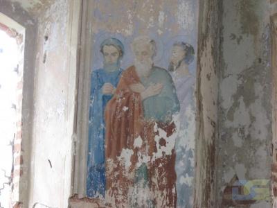 Настенный рисунок в церкви 2010г.